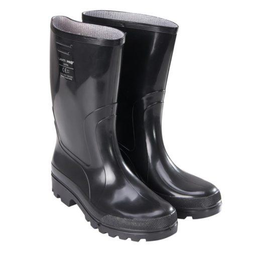 gumowce kalosze Lahti PRO L30701 czarne z PVC obuwie zawodowe bez podnoska średnio-wysokie oba