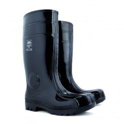 kalosze Demar Maxx czarne wysokie norma s5 z podnoskiem stalowym olejoodporne rozmiary 40-48