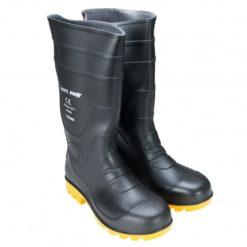 Kalosze Lahti PRO LPKOMA Wysokie bez Podnoska O4 SRA gumiaki gumofilce kalosze do pracy robocze ochronne tworzywowe żółte czarne bezpieczne zawodowe obuwie buty dwa