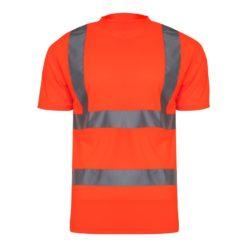 Koszulka T-shirt Ostrzegawcza Pomarańczowa Lahti PRO L40207 koszulka podkoszulek z pasami odblaskowymi drogowy odblaskowy do pracy wysokiej widoczności z przodu