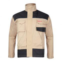 Bluza Lahti PRO L40401 ochronna robocza bluzka do pracy bhp dla budowlańca beżowo czarna przód
