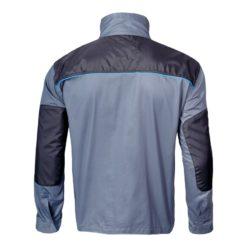 bluza lahti pro l40405 szaro czarna z niebieskim robocza do pracy bhp ze wzmocnieniami bluza tył