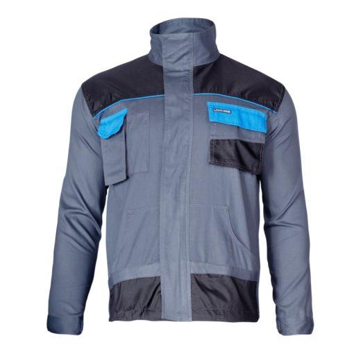 bluza lahti pro l40405 szaro czarna z niebieskim robocza do pracy bhp ze wzmocnieniami bluza przód