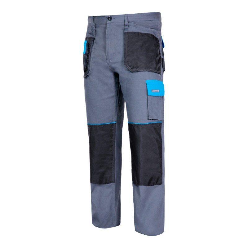 Spodnie robocze Lahti PRO L40504 do pasa w pas ochronne robocze do pracy ciuchy odzież pracownicza kieszenie na nakolanniki szare niebieskie czarne ciuchy sklep bhp