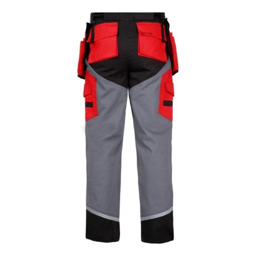 Spodnie Lahti PRO L40505 Monterskie w pas do pasa do pracy bhp na montaż spodnie robocze ochronne z pasami odblaskowymi tył