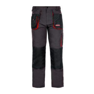 Spodnie do pasa Lahti PRO LPSR01 w pas ochronne robocze mocne bestseller czarno czerwone bhp ciuchy robocze sklep bhp odzież ochronna robocza do pracy ciemne potrójne szwy