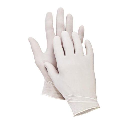Rękawice jednorazowe Loon Light Cerva Lateksowe EN 374-1,2 ATEST białe laboratoryjne