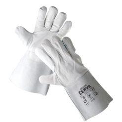 rękawice spawalnicze merlin cerva robocze ochronne ze skóry bydlęcej dwoinowej wołowej szare