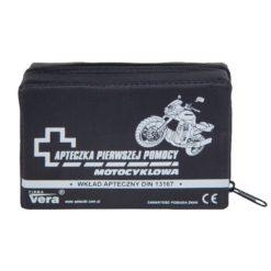 apteczka motocyklowa vera din 13167 apteczka pierwszej pomocy zestaw saszetka nylonowa przód