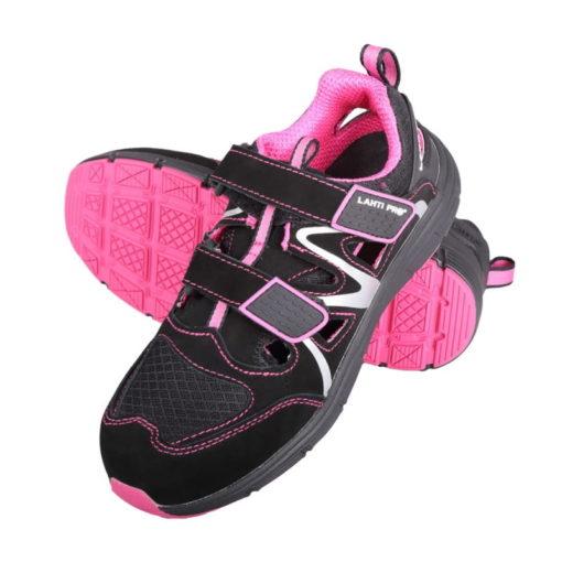 Sandały robocze damskie Lahti PRO l30604 S1 SRC rozm. 36-42 różowe wygodne obuwie ochronne prezentacja