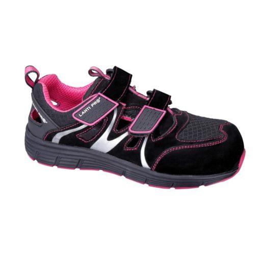 Sandały robocze damskie Lahti PRO l30604 S1 SRC rozm. 36-42 różowe wygodne obuwie ochronne z boku