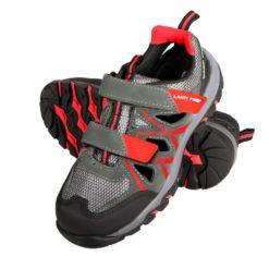 Sandały Lahti PRO L30603 obuwie robocze ochronne, czerwone zamszowe dzianina, podnosek