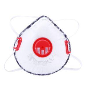 Maska przeciwpyłowa FFP2 Lahti PRO L120100s, z zaworkiem, warstwa węgla aktywnego, czerwony, Lahti PRO, biała, ochrona dróg oddechowych