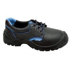 półbuty robocze damskie Lahti PRO L30412 S1 SRC z boku niebiesko czarne obuwie ochronne