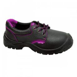 Półbuty robocze damskie Lahti PRO L30413 O1 SRC fioletowe ochronne obuwie robocze bok