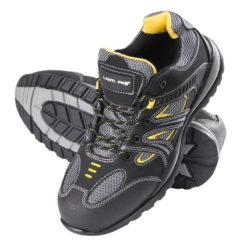 trzewiki Lahti PRO L30104 skóra nubuk nabuk żółto szare czarne wysokie robocze ochronne, podeszwa gumowa, obuwie robocze