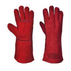Rękawice spawalnicze Portwest A500 Typ A rękawice dla spawacza rękawiczki do spawania mocne czerwone skórzane ochronne bhp uniwersalne długie