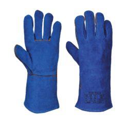 Rękawice spawalnicze Portwest A510 Typ A trudnopalne rękawice robocze do spawania spawalnicze rękawiczki ognioodporne bhp ochronne do pracy niebieskie