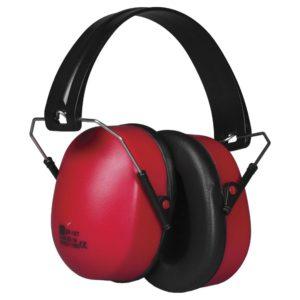 Nauszniki ochronne Portwest PW41 Super o SNR 32 dB przylegające nagłowne ochronniki słuchu dopasowane piankowe bhp nauszniki do pracy hałas czerwone