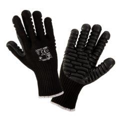 Rękawice Antywibracyjne Lahti PRO L290110K, czarne gumowe ochronne