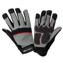 warsztatowe rękawice robocze Lahti PRO L2809 ochronne rękawice do pracy PVC mocne wzmacniane szare czarne czerwone
