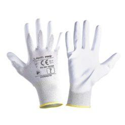 Rękawice Antyelektrostatyczne Lahti PRO L2304, białe ochronne robocze
