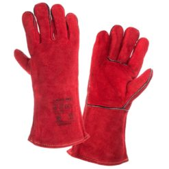 Rękawice spawalnicze Lahti PRO L270311K, ochronne czerwone, komplet