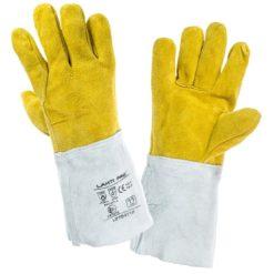 Rękawice spawalnicze Lahti PRO L270411K, ochronne źółte, komplet