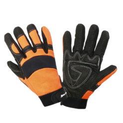 Antypoślizgowe Rękawice Robocze Lahti PRO L2801 rękawiczki robocze bhp bezpieczne do pracy warsztatowe antypoślizgowe pomarańczowe