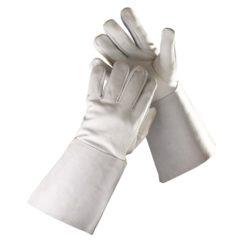 ochronne rękawice spawalnicze sanderling welder ze skóry koziej typ b