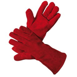 rękawice spawalnicze sandpiper light typ a ochronne robocze spawalnicze skórzane czerwone