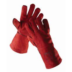 rękawice spawalnicze sandpiper red typ a ochronne robocze spawalnicze skórzane czerwone