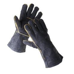 rękawice spawalnicze sandpiper black typ a ochronne robocze spawalnicze skórzane