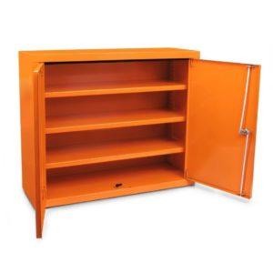Apteczka Metalowa Typ020 SwingMed Przemysłowa DIN 13157+ustnik metalowa zakładowa do biura apteczka pierwszej pomocy pomarańczowa din 13157 lub din 13164 otwarta