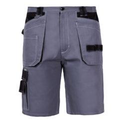 Ochronne spodnie robocze krótkie Lahti PRO L40703 spodnie krótkie do pracy bhp ochronne robocze mocne szaro czarne z kieszeniami bawełniane ciuchy robocze