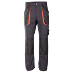 Spodnie robocze do pasa Brixton Practical do pasa w pas odzież ochronna robocza do pracy mocne ciuchy robocze z kieszeniami na nakolanniki kontrastowe sklep bhp przód grafitowe szare czarne pomarańczowe