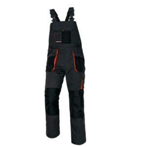 ochronne Spodnie robocze Ogrodniczki Emerton Cerva wstawki szwedy na szelkach robocze spodnie mocne czarne grafitowe pomarańczowe