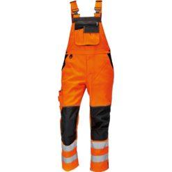 Ogrodniczki Robocze Odblaskowe Knoxfield HV FL290 pomarańczowe szwedy spodnie do pracy na szelkach odblaskowe drogowe pomarańczowe