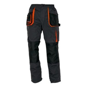 Spodnie robocze do pasa Emerton czarne grafitowe spodnie ochronne pomarańczowe wstawki