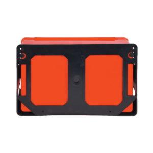 Apteczka Standard DIN 13157 PLUS Apteczka Standard DIN 13164 apteczka biurowa zestaw pierwszej pomocy ścienna ze stelażem mocującym z wyposażeniem biurowa zakładowa przemysłowa samochodowa do ciężarówki czerwona tył