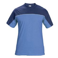 Koszulka T-shirt Stanmore Niebieska rozm. S-4XL 100% bawełna dwukolorowa mocna koszulka robocza ściągacz z elastanem