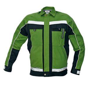 Kurtka Bluza Robocza Stanmore Zielona z odblaskami kurtka bluza robocza zielona ze wzmocnieniami czarne akcenty kieszenie do pracy ochronna