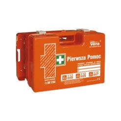 apteczka top 18 2x din 13164 z podwójnym wkładem apteczka zakładowa apteczka biurowa apteczka pierwszej pomocy pomarańczowa zestaw pierwszej pomocy