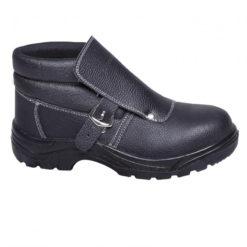 trzewiki Lahti PRO L30112 dla spawaczy, zakryte czarne odporne na wysoką temperaturę buty robocze HRO FO SBP SRC buty spawacza