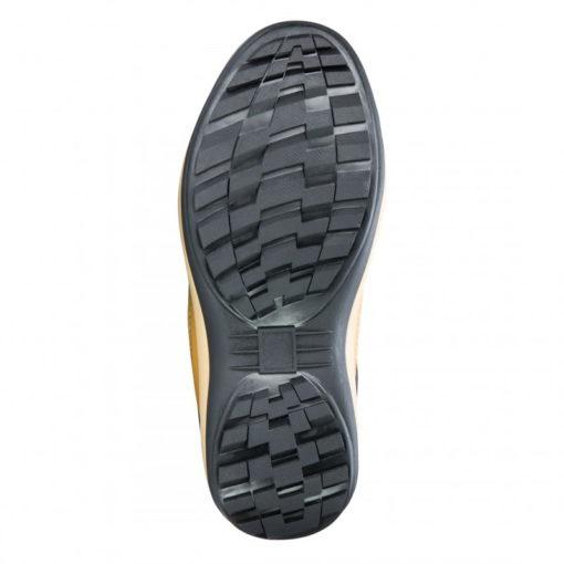 trzewiki Lahti PRO L30102 skórzane nubuk beżowe khaki wysokie robocze ochronne, podeszwa gumowa obuwie robocze podeszwa