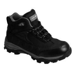 trzewiki Lahti PRO L30103 skórzane nubuk czarne szare wysokie robocze ochronne, podeszwa gumowa obuwie robocze
