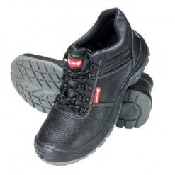 trzewiki Lahti PRO LPTOMG skóra czarne wysokie robocze ochronne, podeszwa poliuretan, obuwie robocze S3P SRC