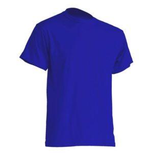 Mocna koszulka T-Shirt JHK TSRA niebieska gram. 190g. do nadruku XS-3XL koszulka robocza koszulka reklamowa mocna wytrzymała bawełniana do pracy oddychająca komfortowa podkoszulka robocza