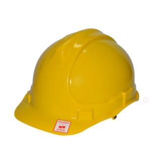 Kask przemysłowy Lahti PRO L1040205 żółty kask hełm ochronny roboczy na budowę budowlany do pracy bhp twardy en 397 hełm dla budowlańca żółty pracownik fizyczny Kask przemysłowy Lahti PRO L1040102 żółty