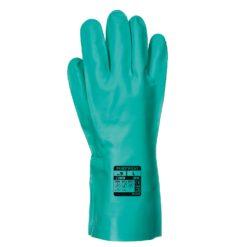 Rękawice Chemiczne Portwest A810 Nitrosafe Nitrylowe rękawiczki robocze odporne chemicznie kwasy zasady seledynowy morski